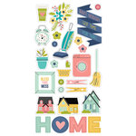 Simple Stories - Domestic Bliss Collection - Chipboard Stickers