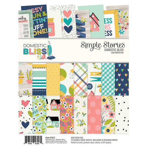 Simple Stories - Domestic Bliss Collection - 6 x 8 Paper Pad