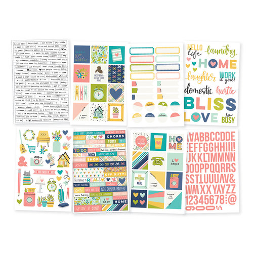 Simple Stories - Domestic Bliss Collection - Cardstock Stickers