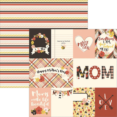 Simple Stories - Mom Collection - 12 x 12 Double Sided Paper - 3 x 4 and 4 x 6 Journaling Card Elements