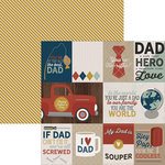 Simple Stories - Dad Collection - 12 x 12 Double Sided Paper - 3 x 4 and 4 x 6 Journaling Card Elements