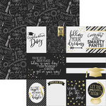 Simple Stories - Grad Collection - 12 x 12 Double Sided Paper - 3 x 4 and 4 x 6 Journaling Card Elements