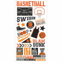 Simple Stories - Basketball Collection - Cardstock Stickers