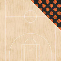 Simple Stories - Basketball Collection - 12 x 12 Double Sided Paper - Double Dribble