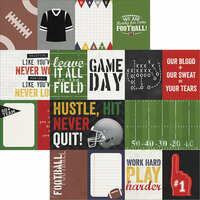 Simple Stories - Football Collection - 12 x 12 Double Sided Paper - 3 x 4 and 4 x 6 Journaling Card Elements