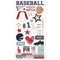 Simple Stories - Baseball Collection - Cardstock Stickers
