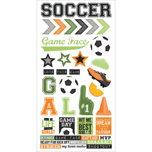 Simple Stories - Soccer Collection - Cardstock Stickers