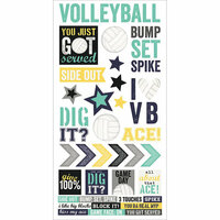 Simple Stories - Volleyball Collection - Cardstock Stickers