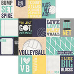 Simple Stories - Volleyball Collection - 12 x 12 Double Sided Paper - 3 x 4 and 4 x 6 Journaling Card Elements