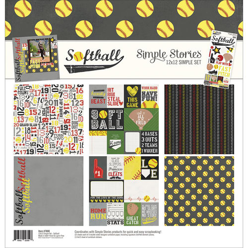 Simple Stories - Softball Collection - 12 x 12 Collection Kit