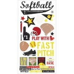 Simple Stories - Softball Collection - Cardstock Stickers