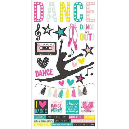 Simple Stories - Dance Collection - Cardstock Stickers