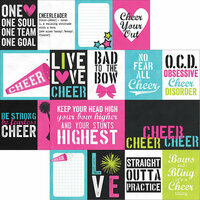 Simple Stories - Cheer Collection - 12 x 12 Double Sided Paper - 3 x 4 and 4 x 6 Journaling Card Elements