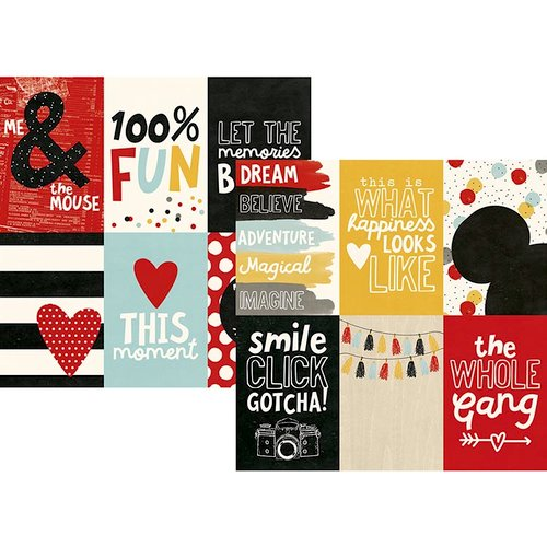 Simple Stories - Say Cheese III Collection - 12 x 12 Double Sided Paper - 4 x 6 Vertical Elements