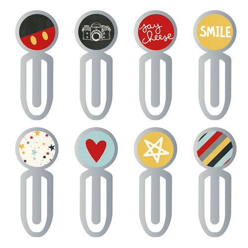 Simple Stories - Carpe Diem - Say Cheese III Collection - Epoxy Metal Clips