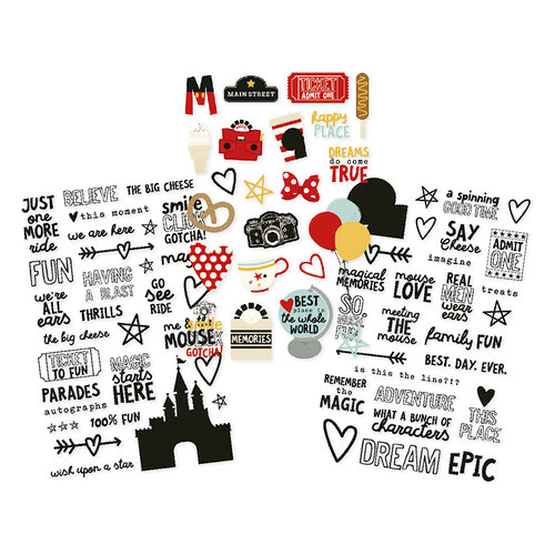 Simple Stories - Say Cheese III Collection - Clear Stickers