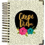 Simple Stories - Carpe Diem - Good Vibes Collection - 16 Month Weekly Spiral Planner with Gold Foil Accents