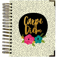 Simple Stories - Carpe Diem - Good Vibes Collection - 16 Month Weekly Spiral Planner with Gold Foil Accents - Sept. 2017 to Dec. 2018
