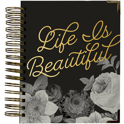 Simple Stories - Carpe Diem - Beautiful Collection - 16 Month Weekly Spiral Planner with Gold Foil Accents - Sept. 2017 to Dec. 2018