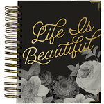 Simple Stories - Carpe Diem - Beautiful Collection - 16 Month Weekly Spiral Planner with Gold Foil Accents