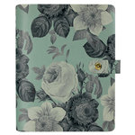 Simple Stories - Carpe Diem Collection - Personal Planner - Mint Vintage Floral - Binder Only