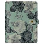 Simple Stories - Carpe Diem Collection - Personal Planner - Mint Vintage Floral - Binder Only