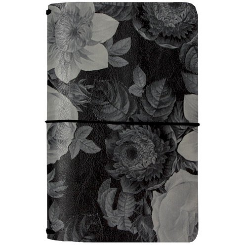 Simple Stories - Carpe Diem - Beautiful Collection - Traveler's Notebook - Black Vintage Floral