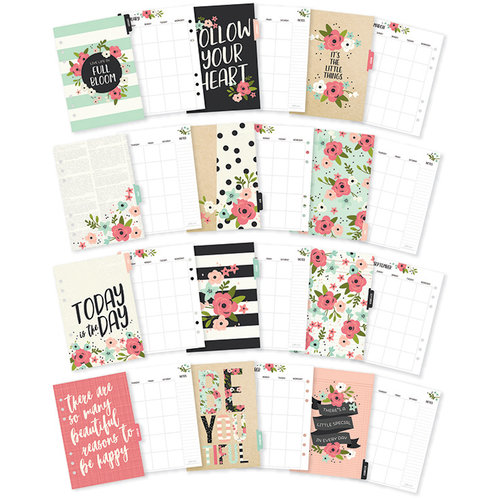 Simple Stories - Carpe Diem - Bloom Collection - A5 Planner - Inserts - Monthly - Undated