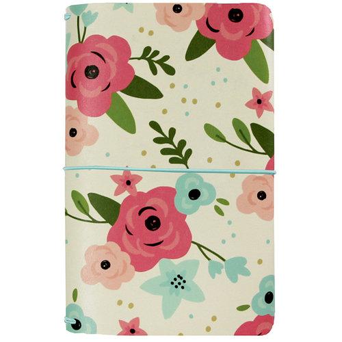 Simple Stories - Carpe Diem - Bloom Collection - Traveler's Notebook - Cream Blossom