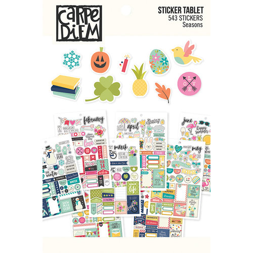 Simple Stories - Carpe Diem - Planner Essentials - Sticker Tablet - Seasons