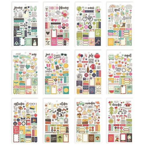 Simple Stories - Carpe Diem - Planner Essentials - Mini Sticker Tablet - Seasons