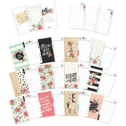 Carpe Diem - Bloom Collection - Personal Planner - Inserts - Monthly - Undated
