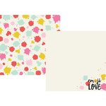 Simple Stories - Emoji Love Collection - 12 x 12 Double Sided Paper - HAHA