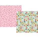 Simple Stories - Emoji Love Collection - 12 x 12 Double Sided Paper - Choose Happy