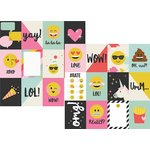 Simple Stories - Emoji Love Collection - 12 x 12 Double Sided Paper - 3 x 4 Journaling Card Elements