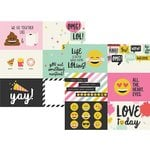 Simple Stories - Emoji Love Collection - 12 x 12 Double Sided Paper - 4 x 6 Horizontal Elements