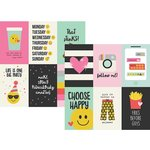 Simple Stories - Emoji Love Collection - 12 x 12 Double Sided Paper - 4 x 6 Vertical Elements