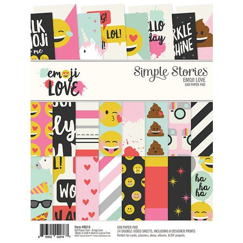 Simple Stories - Emoji Love Collection - 6 x 8 Paper Pad