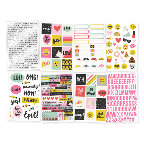Simple Stories - Emoji Love Collection - Cardstock Stickers
