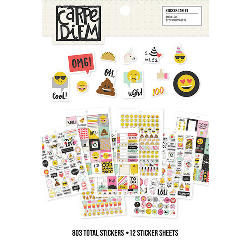 Simple Stories - Carpe Diem - Emoji Love Collection - Sticker Tablet