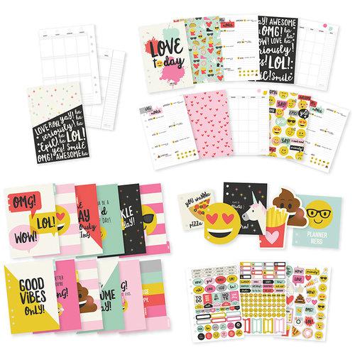 Simple Stories - Carpe Diem - Emoji Love Collection - A5 Insert - 12 Month Planner - Undated