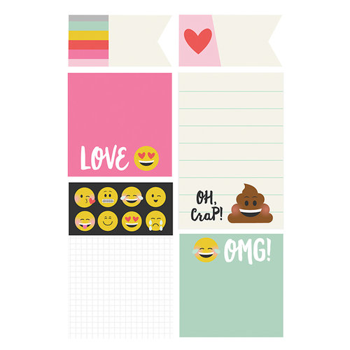 Simple Stories - Carpe Diem - Emoji Love Collection - Sticky Notes