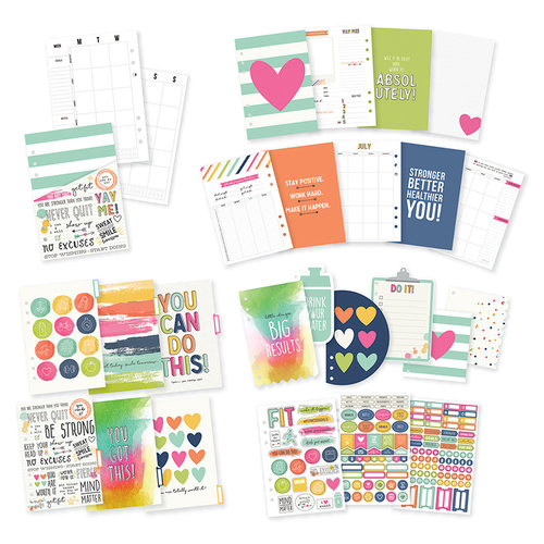 Simple Stories - Carpe Diem - Fitness Collection - A5 Planner Insert - Undated