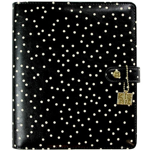 Simple Stories - Carpe Diem Collection - A5 Planner - Black Speckle - Binder Only