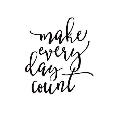 Simple Stories - Carpe Diem - Black Planner Decal - Make Every Day Count