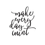 Simple Stories - Carpe Diem - Black Planner Decal - Make Every Day Count