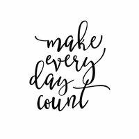 Carpe Diem - Black Planner Decal - Make Every Day Count