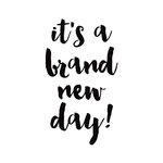 Simple Stories - Carpe Diem - Black Planner Decal - Brand New Day
