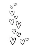 Simple Stories - Carpe Diem - Black Planner Decal - Floating Hearts