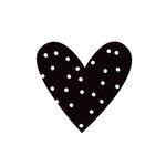 Simple Stories - Carpe Diem - Black Planner Decal - Heart